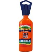 Tinta Dimensional 3D Brilliant 35ml Acrilex – Laranja