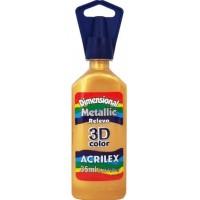 Tinta Dimensional 3D Metallic 35ml Acrilex – Ouro