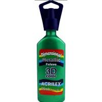 Tinta Dimensional 3D Metallic 35ml Acrilex – Verde Folha