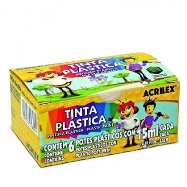 Tinta Plástica Acrilex 15ml C/6