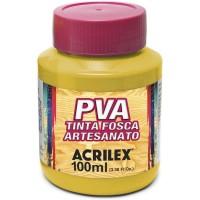 Tinta Fosca PVA Artesanato Acrilex 100 ml Amarelo Ouro