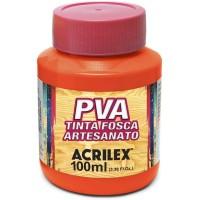 Tinta Fosca PVA Artesanato Acrilex 100 ml Laranja
