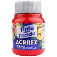 Tinta Tecido 37ml Acrilex - Vermelho Tomate