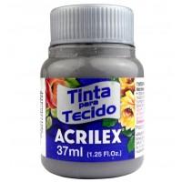 Tinta Tecido 37ml Acrilex - Cinza