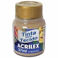 Tinta Tecido 37ml Acrilex - Glitter Ouro