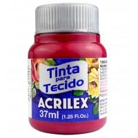 Tinta Tecido 37ml Acrilex - Vermelho Carmim