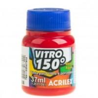Tinta Vitro 150 37 ml Acrilex – Vermelho Escarlate 508
