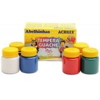 Tinta Guache Acrilex Abelhinhas 15ml C/ 6 Cores