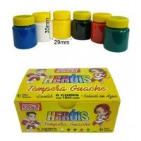 Tinta Guache Radex 15ml C/ 6 Cores