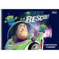 Caderno Desenho Espiral Capa Dura Toy Story 80 Folhas A