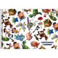Caderno Desenho Espiral Capa Dura Toy Story 80 Folhas B