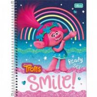Caderno Universitário Capa Dura 12 Matérias 192 Folhas Trolls A