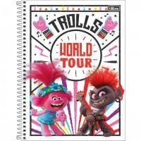 Caderno Universitário Capa Dura 01 Matéria 80 Folhas Trolls B