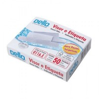 Visor P/Pasta Suspensa C/50 Plásticos e Etiquetas Branca