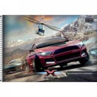 Caderno Desenho Espiral Capa Dura X-Racing 80F A
