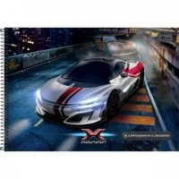 Caderno Desenho Espiral Capa Dura X-Racing 80F B